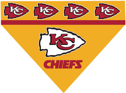 Football Dog Bandana - Chiefs