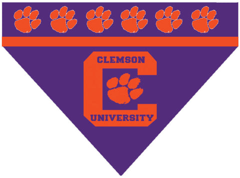College - Clemson Tigers Dog Bandana