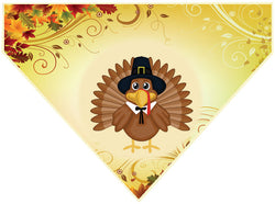 Thanksgiving Over the Collar Dog Bandana - Pilgrim Turkey