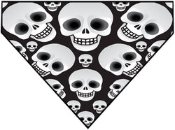Plus Size Pups Halloween Dog Bandana Skull Heads