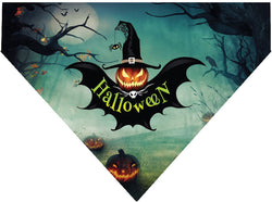Plus Size Pups Halloween Dog Bandana Pumpkin Bat