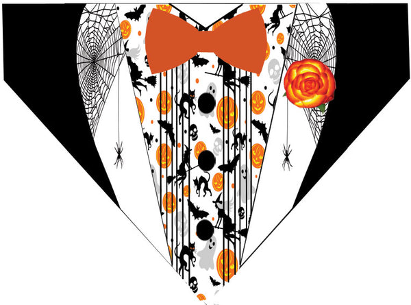 Plus Size Pups Halloween Dog Bandana Pumpkin