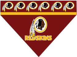 Football Dog Bandana - Redskins