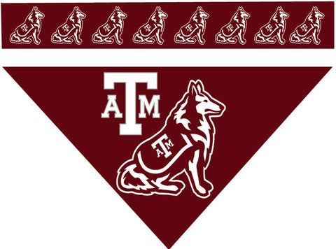 College - Texas A&M Aggies Dog Bandana