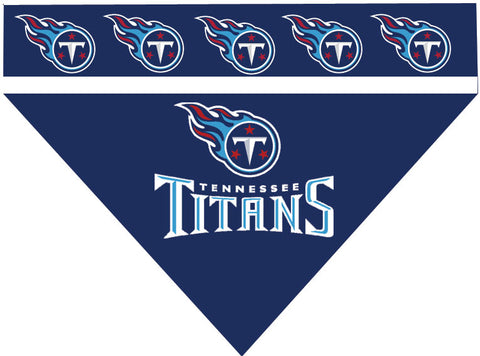 Football Dog Bandana - Titans