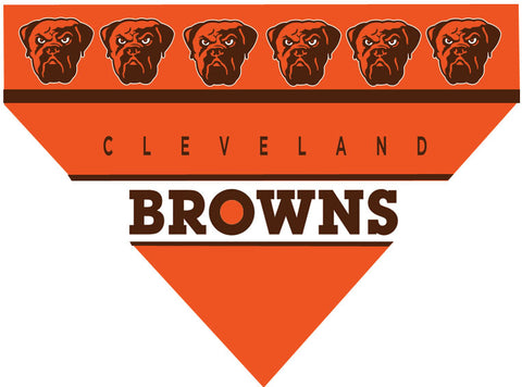 Football Dog Bandana - Browns