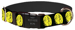 Plus Size Pups Halloween Dog Collar Skeleton Moon