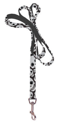 Plus Size Pups Dog Leash - Skull Heads