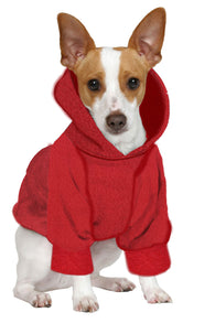Christmas Jack Russel/Pom/Rat Terrier Hoodie Sweatshirt - Fits 9 to 12 LB Dog