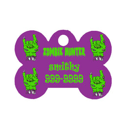Halloween Dog Tag Bone Style - Zombie Hunter