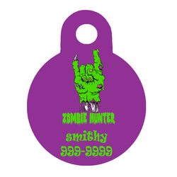 Halloween Dog Tag Round Style - Zombie Hunter