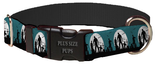 Plus Size Pups Halloween Dog Collar Walking Zombies