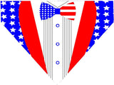 4th of July Over the Collar Dog Bandana - 4th of July Tuxedo