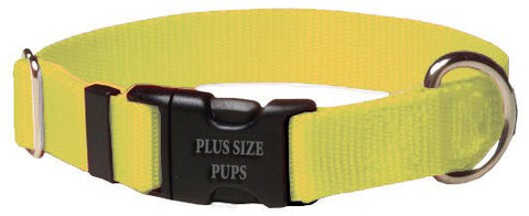 Dog Collar - Nylon Yellow