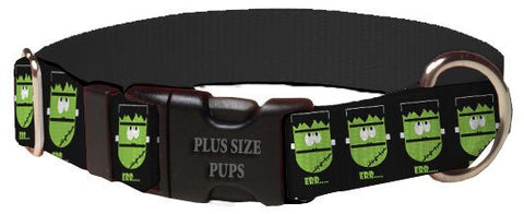Print Pattern Dog Collar - Halloween Frankenstein