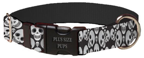 Print Pattern Dog Collar - Halloween Skull Heads