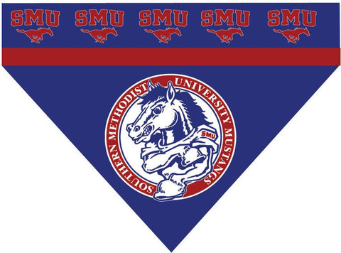 Over the Collar Dog Bandanna - Southern Methodist University - SMU Mustangs