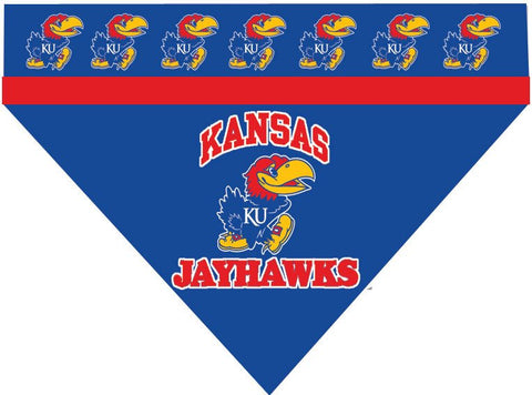 Over the Collar Dog Bandanna - Kansas Jayhawks
