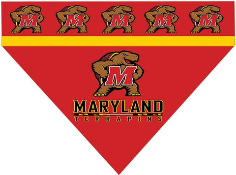 Over the Collar Dog Bandanna - University of Maryland - Maryland Terrapins