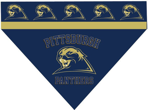 Over the Collar Dog Bandanna - University of Pittsburgh - Pittsburgh Panthers