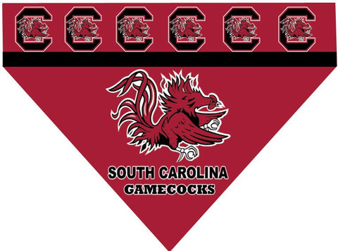 Over the Collar Dog Bandanna - University of South Carolina - South Carolina Gamecocks