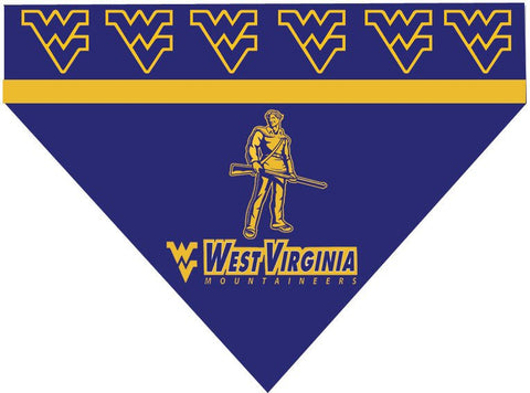 Over the Collar Dog Bandanna - West Virginia University - West Virginia Mountaineers