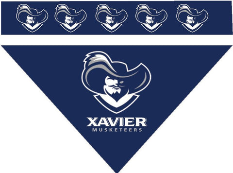 Over the Collar Dog Bandanna - Xavier Musketeers