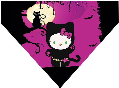 Halloween Over the Collar Dog Bandana - Hellow Kitty Kitty Costume