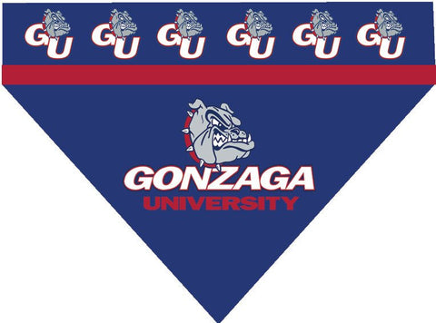 Over the Collar Dog Bandanna - College Gonzaga Bulldogs