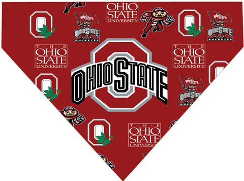 Over the Collar Dog Bandanna - Ohio State University - Ohio State Buckeyes