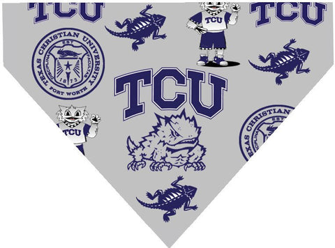 Over the Collar Dog Bandanna - Texas Christian University - TCU Horned Frogs