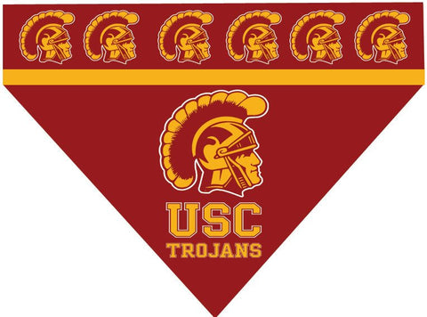 Over the Collar Dog Bandanna - University of Southern California - USC Trojans