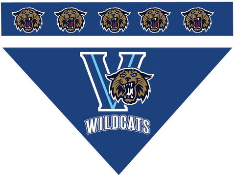 Over the Collar Dog Bandanna - College Villanova Wildcats