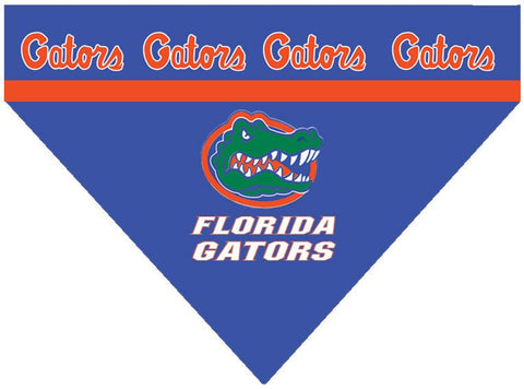 Over the Collar Dog Bandanna - Florida Gators