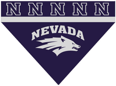 Over the Collar Dog Bandanna - Nevada Wolf Pack