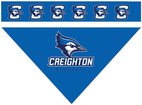 Over the Collar Dog Bandanna - Creighton Bluejays