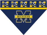 Over the Collar Dog Bandanna - Michigan Wolverines
