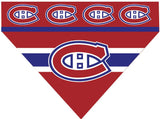 Over the Collar Dog Bandana -  Hockey Montreal Canadiens