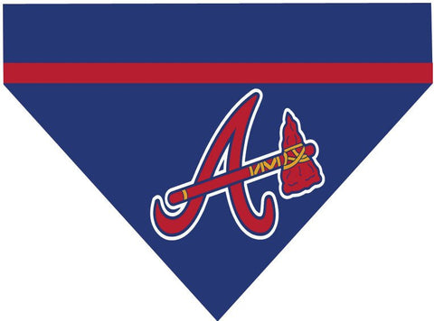 Baseball Dog Bandana - Atlanta Braves LETTER