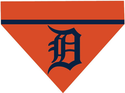 Baseball Dog Bandana - Detroit Tigers LETTER
