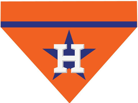 Baseball Dog Bandana - Houston Astros LETTER