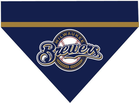 Baseball Dog Bandana - Milwaukee Brewers