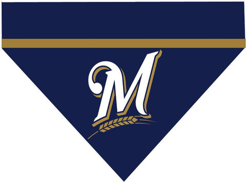 Baseball Dog Bandana - Milwaukee Brewers LETTER