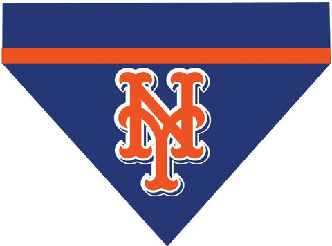 Baseball Dog Bandana - New York Mets LETTERS