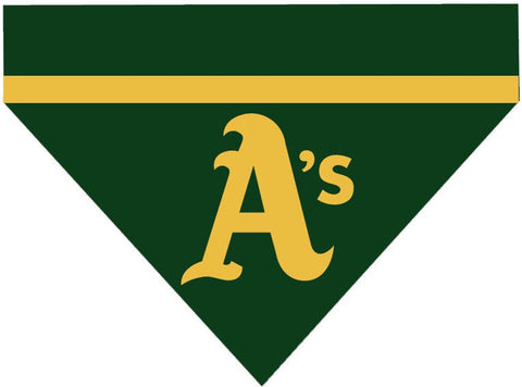 Baseball Dog Bandana - Oakland Athletics LETTER