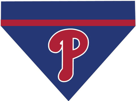 Baseball Dog Bandana - Philadelphia Phillies LETTER