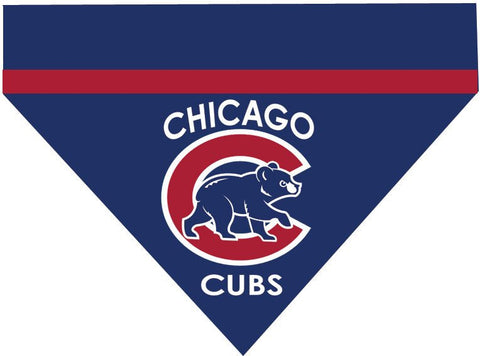 Baseball Dog Bandana - Chicago Cubs