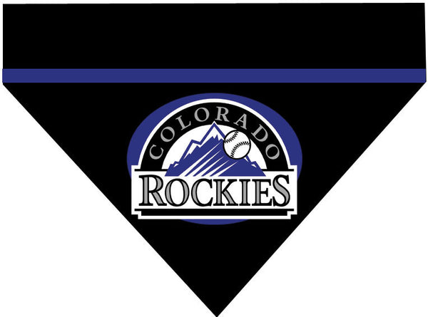 Baseball Dog Bandana - Colorado Rockies