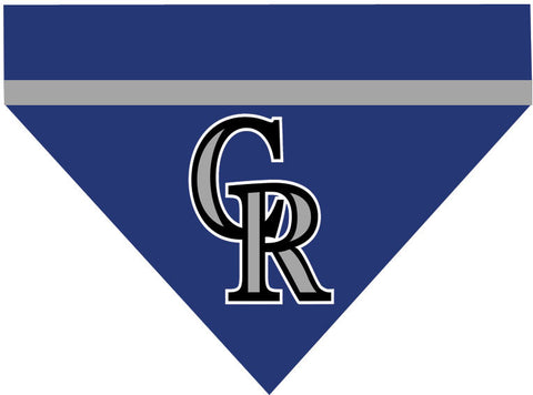 Baseball Dog Bandana - Colorado Rockies LETTER