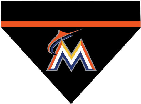 Baseball Dog Bandana - Miami Marlins LETTER